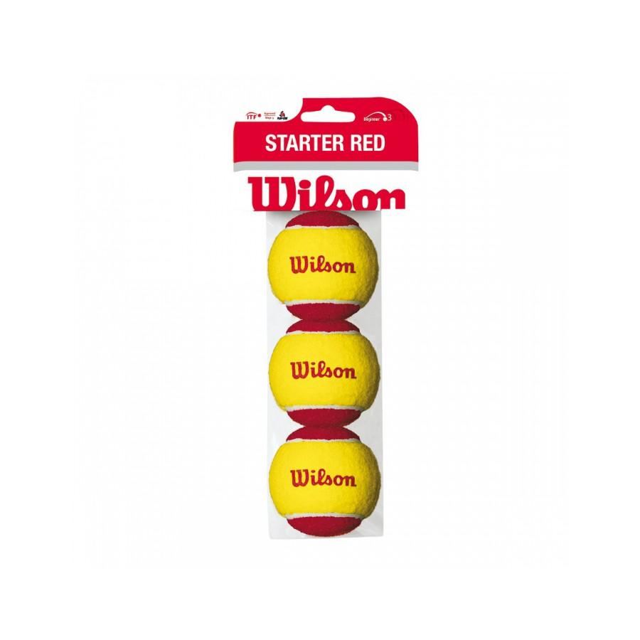 Мячи теннисные Wilson Starter Red (3)